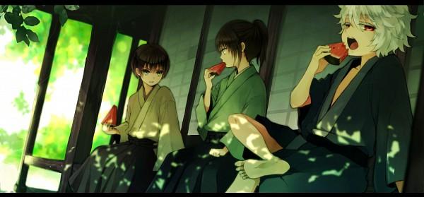 Tags: Anime, Hachiro, Gintama, Katsura Kotaro, Takasugi Shinsuke, Sakata Gintoki, Fanart, Facebook Cover, Fanart From Pixiv, Pixiv, Joui