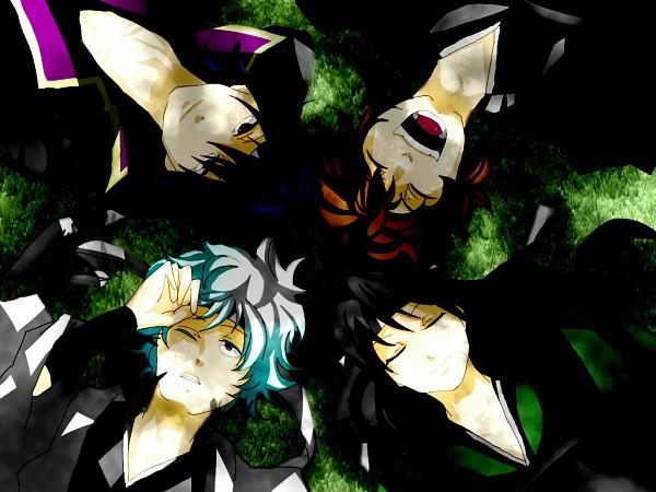 Tags: Anime, Amulet051, Gintama, Sakamoto Tatsuma, Katsura Kotaro, Takasugi Shinsuke, Sakata Gintoki, Laying in Circle, Joui War, Joui