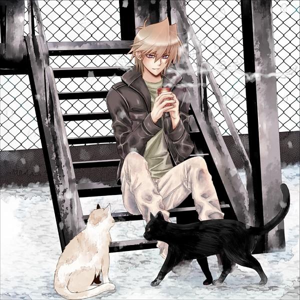Tags: Anime, Nikami Yukitaka, Yu-Gi-Oh!, Yu-Gi-Oh! Duel Monsters, Jounouchi Katsuya, White Cat, Fanart From Pixiv, Fanart, Pixiv, Joey Wheeler