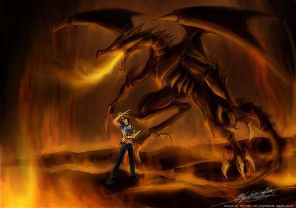 Tags: Anime, Studio Gallop, Yu-Gi-Oh! Duel Monsters, Yu-Gi-Oh!, Red-Eyes Black Dragon, Jounouchi Katsuya, Pixiv, Joey Wheeler