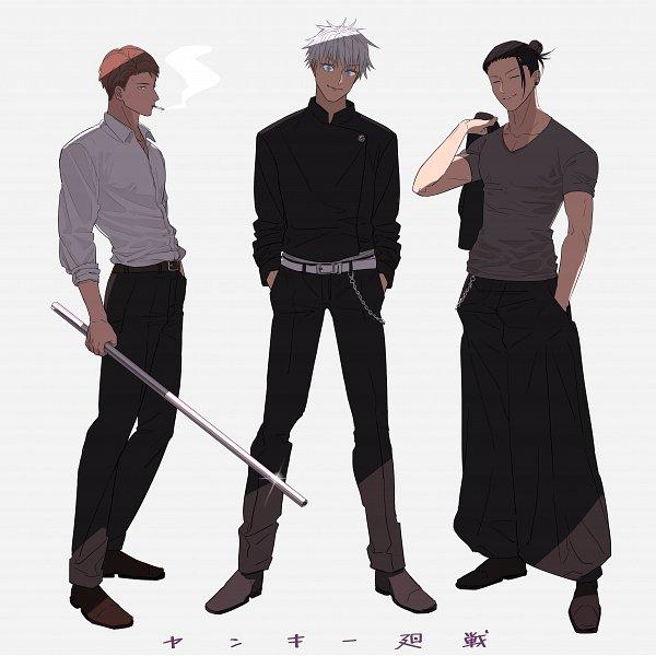 Tags: Anime, Pixiv Id 412104, Jujutsu Kaisen, Nanami Kento, Getou Suguru, Satoru Gojou, Fanart From Pixiv, Pixiv, Fanart