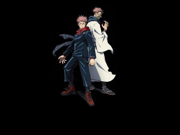 Tags: Anime, Hiramatsu Tadashi, MAPPA, Jujutsu Kaisen, Sukuna (Jujutsu Kaisen), Itadori Yuuji, Official Art, Key Visual