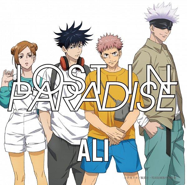 Tags: Anime, Hiramatsu Tadashi, MAPPA, Jujutsu Kaisen, Itadori Yuuji, Satoru Gojou, Kugisaki Nobara, Fushiguro Megumi, Official Art, CD (Source)