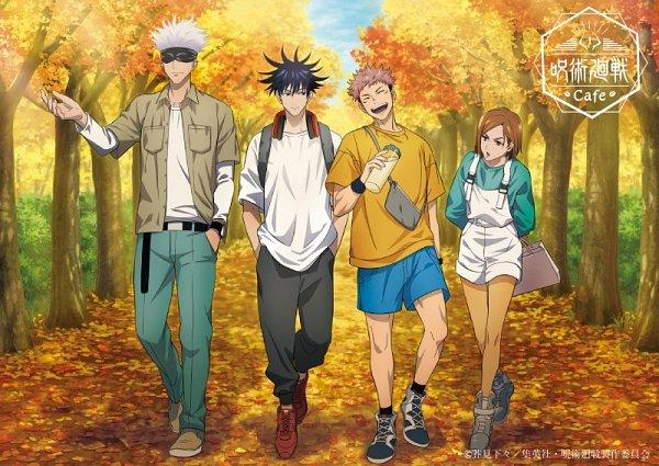 Tags: Anime, MAPPA, Jujutsu Kaisen, Kugisaki Nobara, Fushiguro Megumi, Itadori Yuuji, Satoru Gojou, Shopping Bag, Fanny Pack, Official Art, Product Advertising, Twitter