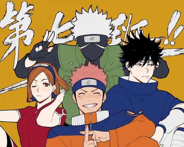 Tags: Anime, Pixiv Id 35525499, Jujutsu Kaisen, Gojou Satoru, Kugisaki Nobara, Fushiguro Megumi, Itadori Yuuji, Haruno Sakura (Cosplay), Hatake Kakashi (Cosplay), Uzumaki Naruto (Cosplay), 2000x1600 Wallpaper, Uchiha Sasuke (Cosplay), Fanart From Pixiv