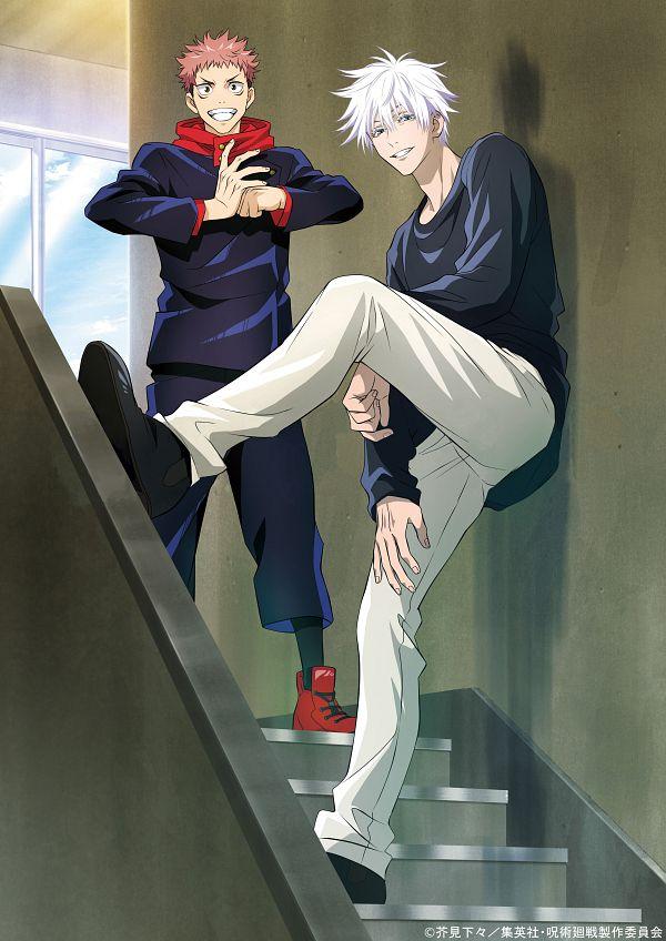 Tags: Anime, Hiramatsu Tadashi, MAPPA, Jujutsu Kaisen, Itadori Yuuji, Gojou Satoru, Edited, Scan, DVD (Source), Official Art