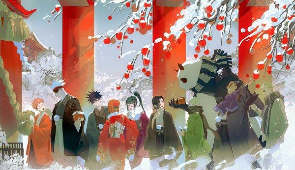 Tags: Anime, Yueci218, Jujutsu Kaisen, Itadori Yuuji, Zenin Maki, Panda (Jujutsu Kaisen), Gojou Satoru, Yoshino Junpei (Jujutsu Kaisen), Kugisaki Nobara, Nanami Kento, Fushiguro Megumi, Toudou Aoi, Inumaki Toge