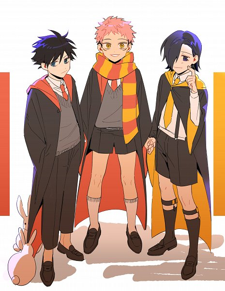 Tags: Anime, Lofter Id 594223912, Jujutsu Kaisen, Yoshino Junpei (Jujutsu Kaisen), Fushiguro Megumi, Itadori Yuuji, Harry Potter (Parody), Harry Potter (Cosplay), Lofter
