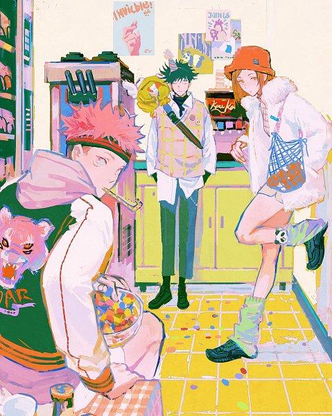 Tags: Anime, Huangdanlan, Jujutsu Kaisen, Kugisaki Nobara, Fushiguro Megumi, Itadori Yuuji, Weibo, Revision
