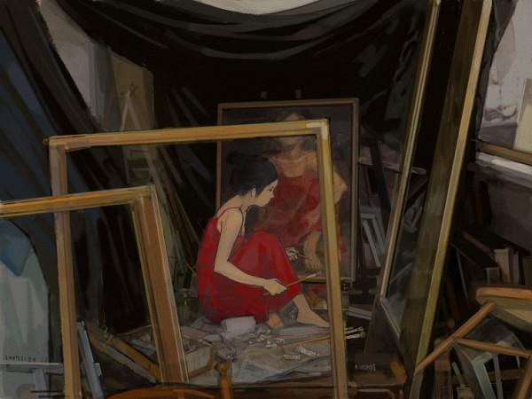 Tags: Anime, Jun Ayafuya, Weird, Brush, Painting (Object), Pixiv, Original