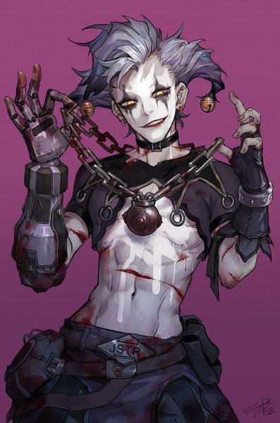 Tags: Anime, Pixiv Id 4149224, Overwatch, Junkrat, Joker, Mobile Wallpaper, Pixiv