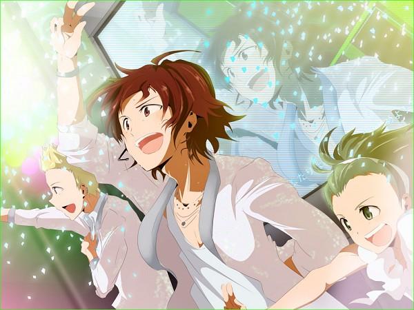 Tags: Anime, Namco, THE iDOLM@STER: SideM, Mitarai Shouta, Ijuuin Hokuto, Amagase Touma, Ijuuin, Pixiv, Fanart, Jupiter (Idolmaster)