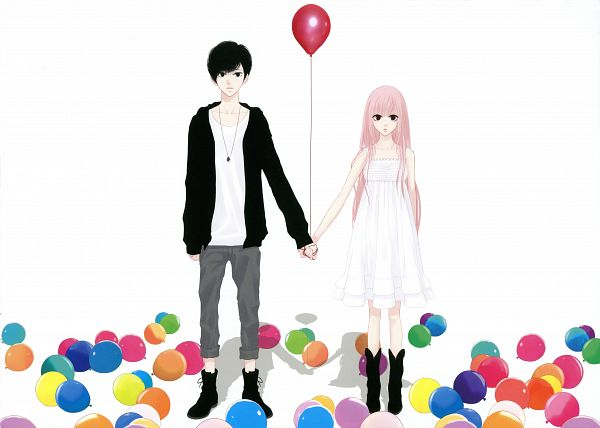 Tags: Anime, Yunomi, Just Be Friends -Illustrations-, Project DIVA 2nd, VOCALOID, Megurine Luka, PNG Conversion, Project DIVA Chiffon Dress, Just Be Friends
