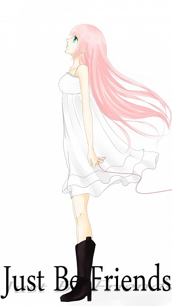 Tags: Anime, Project DIVA 2nd, VOCALOID, Megurine Luka, Just Be Friends, Mobile Wallpaper, Project DIVA Chiffon Dress, Artist Request