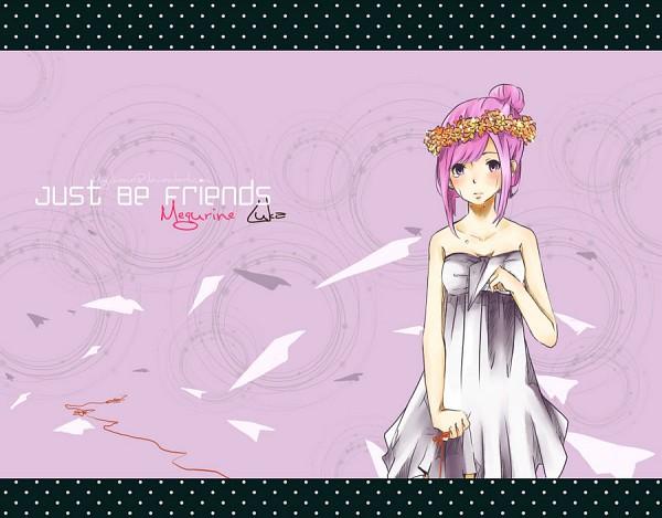 Tags: Anime, Project DIVA 2nd, VOCALOID, Megurine Luka, Paper Airplane, Artist Request, Just Be Friends, Project DIVA Chiffon Dress, deviantART