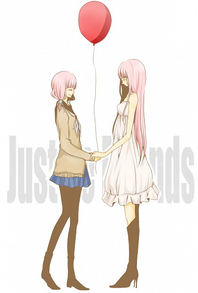 Tags: Anime, Pixiv Id 894585, Project DIVA 2nd, VOCALOID, Megurine Luka, Globe, Just Be Friends, Fanart, Mobile Wallpaper, Project DIVA Chiffon Dress, Pixiv