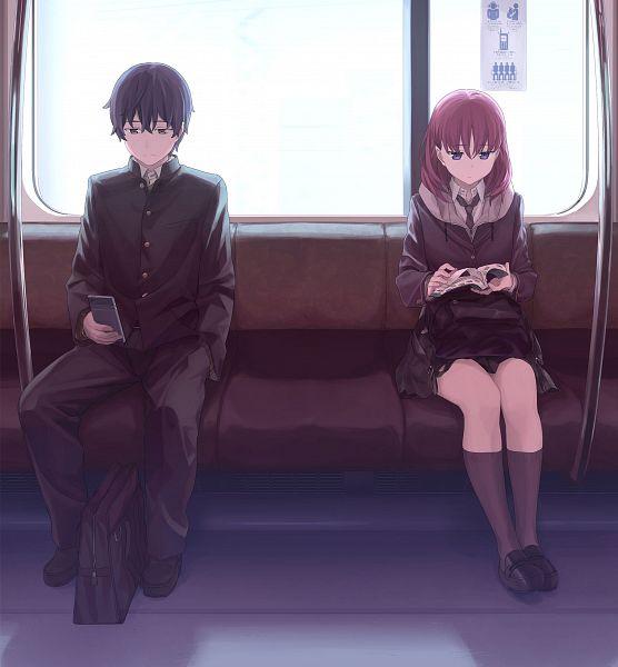 Tags: Anime, Himura Kiseki, Pine Jam, Just Because!, Izumi Eita, Natsume Mio, Official Art