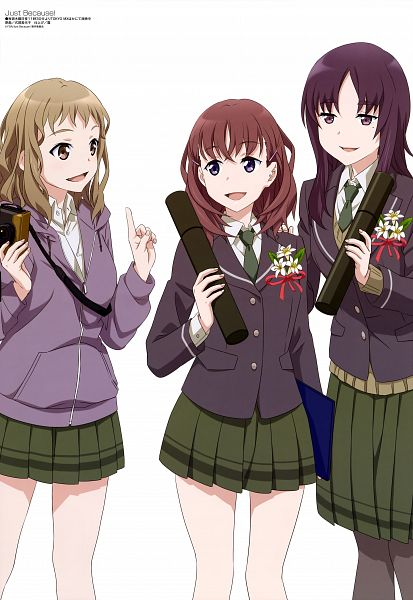Tags: Anime, Pine Jam, Just Because!, Komiya Ena, Morikawa Hatsuki, Natsume Mio, Official Art, Scan