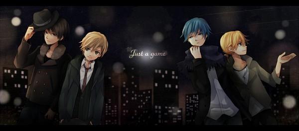 Tags: Anime, Tama Songe, VOCALOID, Kagamine Len, Yuuto, Kony, KAITO, Just a game, Facebook Cover, Nico Nico Singer, Fanart, Pixiv