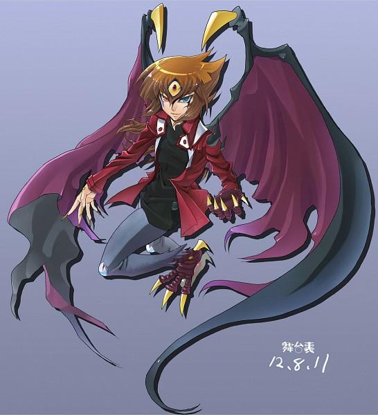 Tags: Anime, Yu-Gi-Oh!, Yu-Gi-Oh! GX, Yubel, Juudai Yuuki, Third Eye, Character Fusion, Jaden Yuki