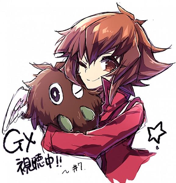Tags: Anime, Yuui1994, Yu-Gi-Oh!, Yu-Gi-Oh! GX, Juudai Yuuki, Winged Kuriboh, Fanart From Pixiv, Fanart, Pixiv, Jaden Yuki