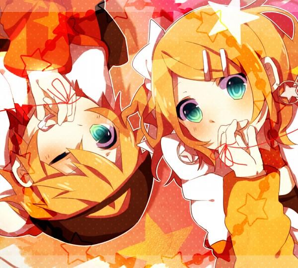 Tags: Anime, macozi, VOCALOID, Kagamine Len, Kagamine Rin, Juvenile, Kagamine Mirrors