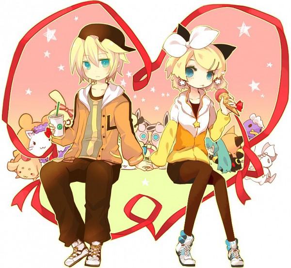 Tags: Anime, VOCALOID, Kagamine Len, Kagamine Rin, Juvenile