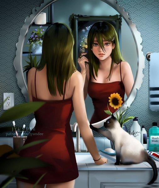 Tags: Anime, Jyundee, Bathroom, Sink, Original