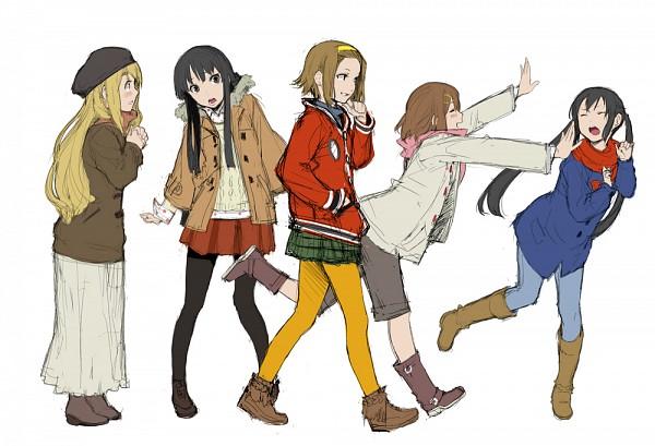 Tags: Anime, Enami Katsumi, K-ON!, Kotobuki Tsumugi, Akiyama Mio, Hirasawa Yui, Nakano Azusa, Tainaka Ritsu, Fanart