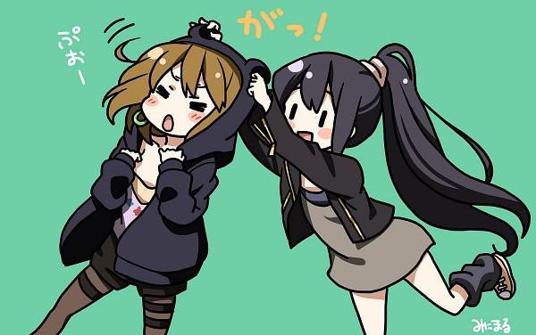 Tags: Anime, Yuruya Minimaru, K-ON!, Hirasawa Yui, Nakano Azusa, Singing! (K-ON!)