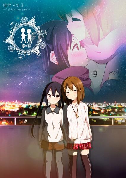 Tags: Anime, Ragho no Erika, K-ON!, Hirasawa Yui, Nakano Azusa, Mobile Wallpaper