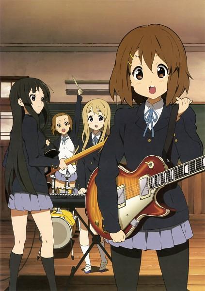 Tags: Anime, Kyoto Animation, K-ON!, Kotobuki Tsumugi, Akiyama Mio, Hirasawa Yui, Tainaka Ritsu, Official Art
