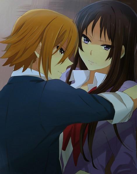 Tags: Anime, K-ON!, Tainaka Ritsu, Akiyama Mio, Artist Request, No Thank You!