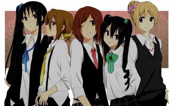 Tags: Anime, Karuha, K-ON!, Nakano Azusa, Hirasawa Yui, Tainaka Ritsu, Kotobuki Tsumugi, Akiyama Mio, Pixiv, Fanart