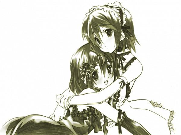 Tags: Anime, Senomoto Hisashi, K-ON!, Tainaka Ritsu, Hirasawa Yui, Pixiv, Sketch