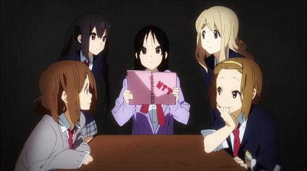 Tags: Anime, Kyoto Animation, K-ON!, Tainaka Ritsu, Kotobuki Tsumugi, Akiyama Mio, Hirasawa Yui, Nakano Azusa, Screenshot, No Thank You