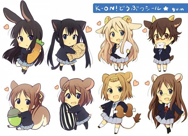 Tags: Anime, Gum (Vivid Garden), K-ON!, Hirasawa Ui, Tainaka Ritsu, Nakano Azusa, Kotobuki Tsumugi, Yamanaka Sawako, Akiyama Mio, Manabe Nodoka, Hirasawa Yui, Risumimi, Meat
