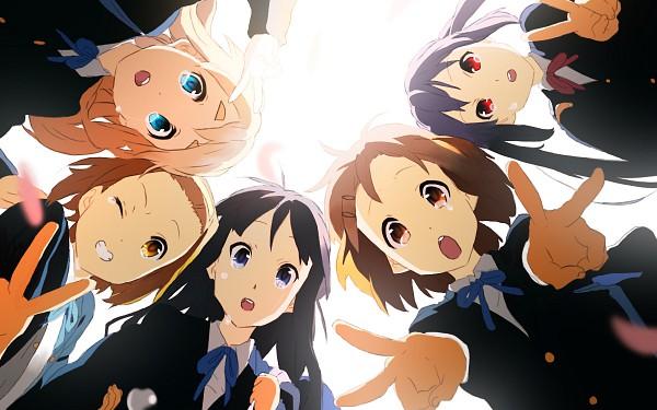 Tags: Anime, Mnyk, K-ON!, Nakano Azusa, Hirasawa Yui, Tainaka Ritsu, Kotobuki Tsumugi, Akiyama Mio, Pixiv, Wallpaper, Fanart From Pixiv, Fanart