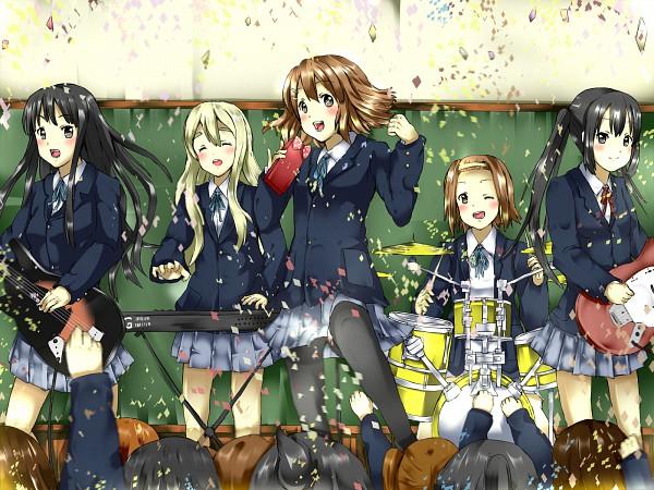 Tags: Anime, Rika (Kakera), K-ON!, Akiyama Mio, Nakano Azusa, Hirasawa Yui, Tainaka Ritsu, Kotobuki Tsumugi, Pixiv, Fanart, Fanart From Pixiv