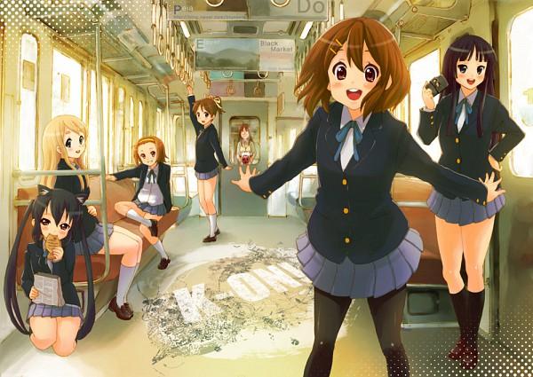 Tags: Anime, Pixiv Id 731621, K-ON!, Tainaka Ritsu, Kotobuki Tsumugi, Nakano Azusa, Akiyama Mio, Yamanaka Sawako, Hirasawa Yui, Hirasawa Ui, Taiyaki, Takoyaki, Train Interior