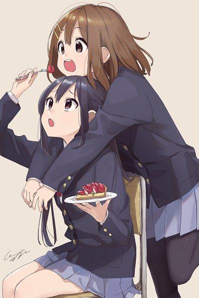 Tags: Anime, Pomu (Pixiv Id 2302136), K-ON!, Hirasawa Yui, Nakano Azusa