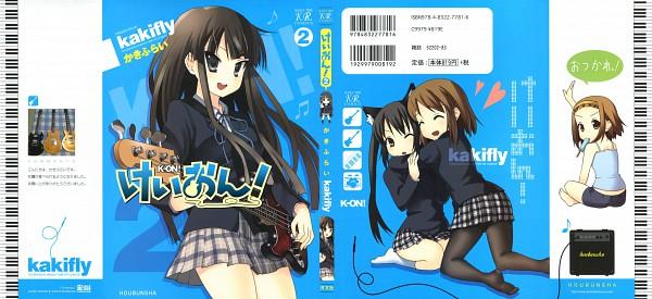 Tags: Anime, Kakifly, Kyoto Animation, K-ON!, Hirasawa Yui, Nakano Azusa, Tainaka Ritsu, Akiyama Mio, Guitar Pick, Official Art, Manga Cover, Scan