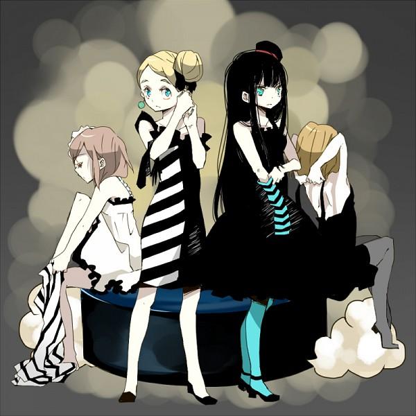 "Tags: Anime, Meno (Pixiv933830), K-ON!, Kotobuki Tsumugi, Akiyama Mio, Hirasawa Yui, Tainaka Ritsu, Stretch, Don't Say ""Lazy"""