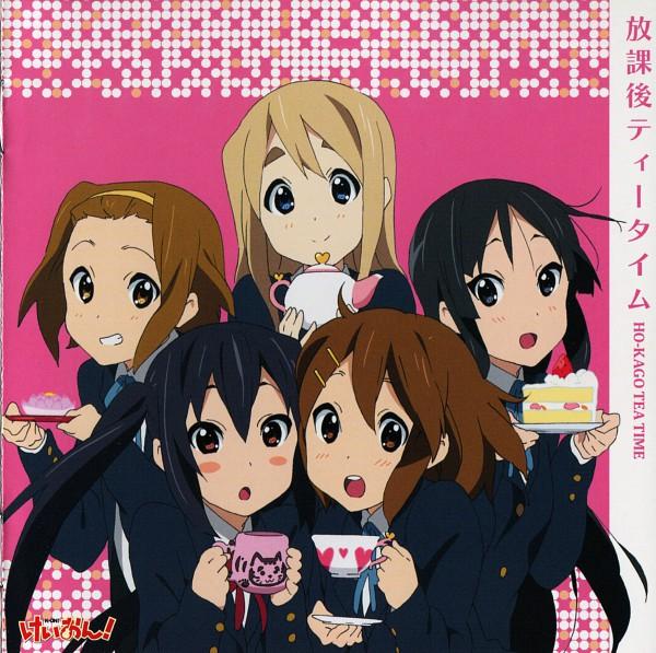 Tags: Anime, Horiguchi Yukiko, Kyoto Animation, K-ON!, Akiyama Mio, Hirasawa Yui, Nakano Azusa, Tainaka Ritsu, Kotobuki Tsumugi, Official Art, Scan