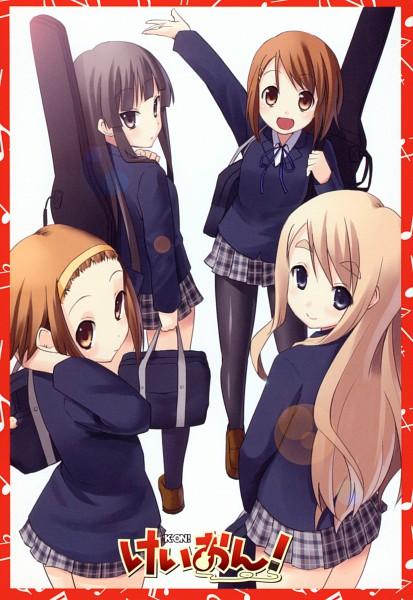 Tags: Anime, Kakifly, K-ON!, Hirasawa Yui, Tainaka Ritsu, Kotobuki Tsumugi, Akiyama Mio, Official Art, Scan