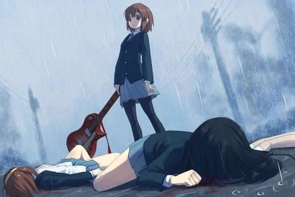 Tags: Anime, Pixiv Id 2658640, Shiden (Artist), K-ON!, Hirasawa Yui, Tainaka Ritsu, Kotobuki Tsumugi, Akiyama Mio, Murder, Utility Pole