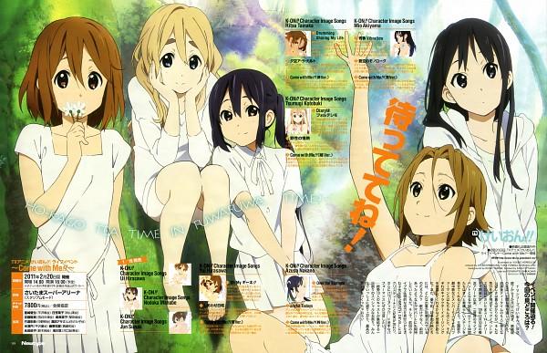 Tags: Anime, Horiguchi Yukiko, Kyoto Animation, K-ON!, Kotobuki Tsumugi, Akiyama Mio, Hirasawa Yui, Nakano Azusa, Tainaka Ritsu, Official Art