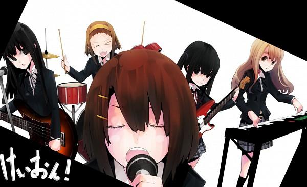 Tags: Anime, Shirai Kon, K-ON!, Akiyama Mio, Nakano Azusa, Hirasawa Yui, Tainaka Ritsu, Kotobuki Tsumugi, Keyboard (Instrument), Electric Guitar, Drumsticks, Pixiv