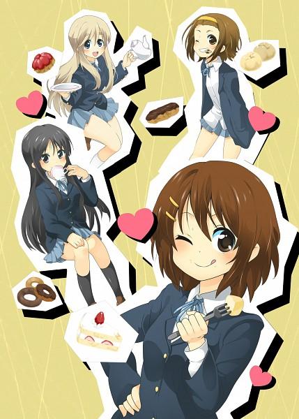 Tags: Anime, Mitsuki Meiya, K-ON!, Akiyama Mio, Hirasawa Yui, Tainaka Ritsu, Kotobuki Tsumugi, Strawberry Shortcake