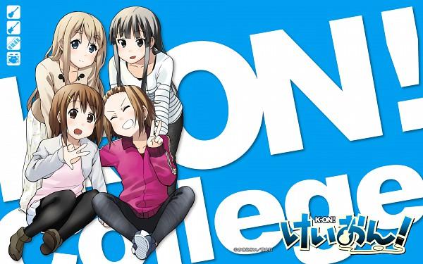 Tags: Anime, Kakifly, K-ON!, Tainaka Ritsu, Kotobuki Tsumugi, Akiyama Mio, Hirasawa Yui, Wallpaper, Official Art, Official Wallpaper